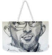 Graphite Portrait Sketch Of A Young Man With Glasses Weekender Tote Bag