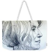 Portrait Drawing Of A Woman In Profile Weekender Tote Bag