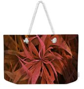 Grass Abstract - Fire Weekender Tote Bag