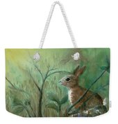 Grass Rabbit Weekender Tote Bag