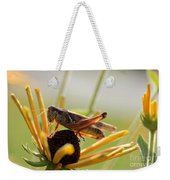 Grasshopper Antenna Down Weekender Tote Bag
