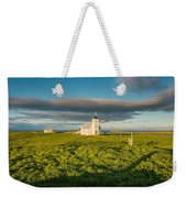 Grasslands And Flatey Church, Flatey Weekender Tote Bag