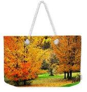 Grassy Autumn Road Weekender Tote Bag