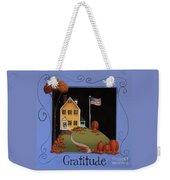 Gratitude Weekender Tote Bag