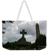 Grave Cross And The Round Tower Weekender Tote Bag