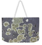 Gravestone With Lichen Weekender Tote Bag
