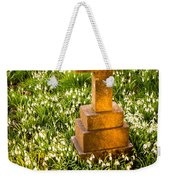 Gravestone With Snowdrops Weekender Tote Bag