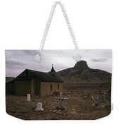 Graveyard Church Cabezon Peak Ghost Town Cabezon New Mexico 1971 Weekender Tote Bag