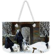 Graveyard Under Snow Weekender Tote Bag