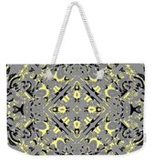 Gray And Yellow No. 1 Weekender Tote Bag