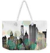 Gray City Beams Weekender Tote Bag