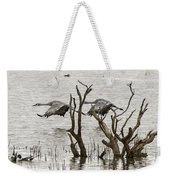 Gray Day At Whitewater Weekender Tote Bag
