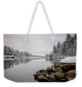 Gray Day In Lake Oswego Weekender Tote Bag