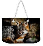 Gray Fox Weekender Tote Bag