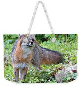 Gray Fox Weekender Tote Bag