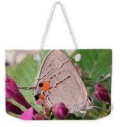 Gray Hairstreak Butterfly Weekender Tote Bag