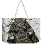 Gray Owlet Moth Weekender Tote Bag