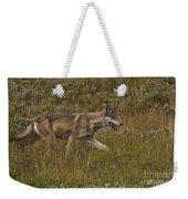 Gray Wolf Hunting Weekender Tote Bag