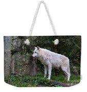 Gray Wolf White Morph Weekender Tote Bag