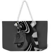 Gray Zebra Weekender Tote Bag