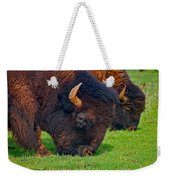 Grazing Buffaloes Weekender Tote Bag