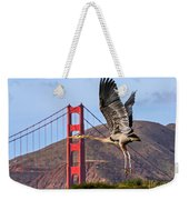 Great Blue At The Golden Gate Weekender Tote Bag