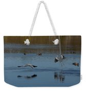 Great Blue Dance Weekender Tote Bag