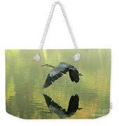 Great Blue Fly-by Weekender Tote Bag