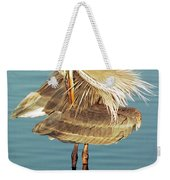 Great Blue Heron Ardea Herodias Preening Weekender Tote Bag