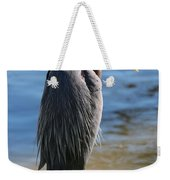 Great Blue Heron By Pond Weekender Tote Bag