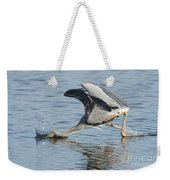 Great Blue Heron Fishing Weekender Tote Bag