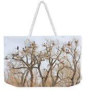 Great Blue Heron Hangout Weekender Tote Bag