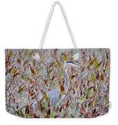 Great Blue Heron In Fall Marsh Weekender Tote Bag