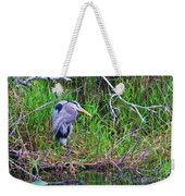 Great Blue Heron In Nature Weekender Tote Bag