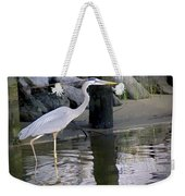Great Blue Heron - Mealtime Weekender Tote Bag