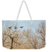 Great Blue Heron Nest Building 1 Weekender Tote Bag