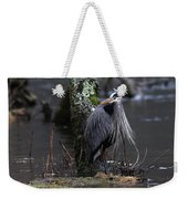 Great Blue Heron On The Clinch River Weekender Tote Bag
