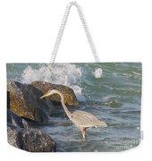 Great Blue Heron On The Prey Weekender Tote Bag
