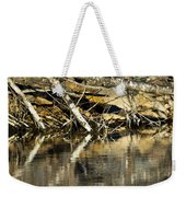 Great Blue Heron Reflection Weekender Tote Bag
