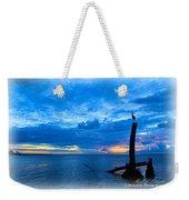 Great Blue Heron Sunrise Weekender Tote Bag