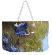 Great Blue Heron Taking Off Weekender Tote Bag