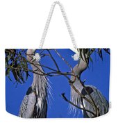 Great Blue Herons Weekender Tote Bag