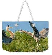 Great Blue Herons Weekender Tote Bag