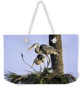 Great Blue Herons Nesting Weekender Tote Bag