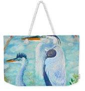 Great Blue Herons Seek Freedom Weekender Tote Bag