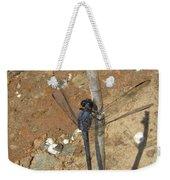 Slaty Skimmer Dragonfly Shadow Weekender Tote Bag