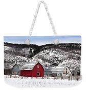 Great Canadian Red Barn In Winter Weekender Tote Bag