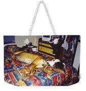 Great Dane And Cat Weekender Tote Bag