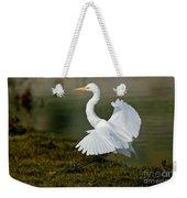 Great Egret Alighting Weekender Tote Bag
