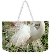 Great Egret Courtship Display Weekender Tote Bag